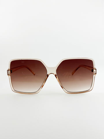 Oversized Sunglasses In Light Brown