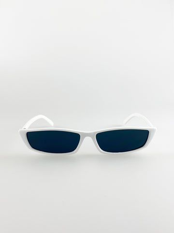 Cateye Sunglasses In White