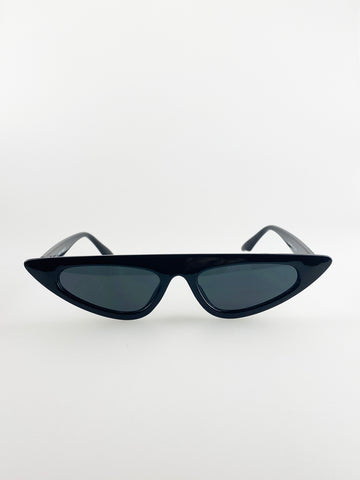 Flat Top Cateye Sunglasses In Black