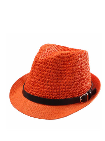 Straw Trilby with Black Ribbon and Buckle WAS £4.25 NOW £1.50A