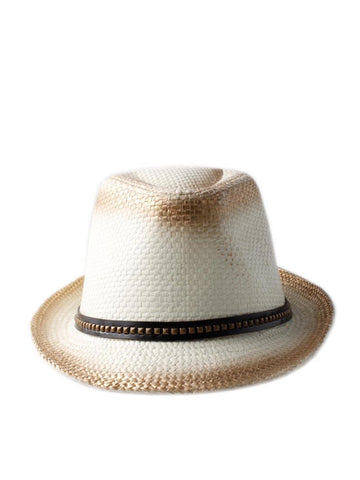 Straw Trilby Hat WAS £4.95 NOW £1.99