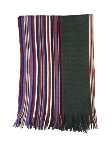Multicolour Purple Striped Scarf