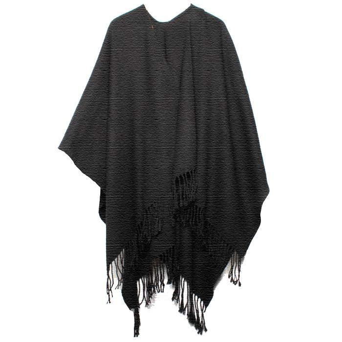 Black Knit Blanket Wrap - Accent Fashion Accessories
