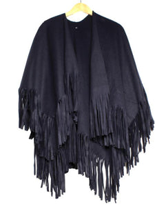 Fringe Blanket Cape Wrap Shawl