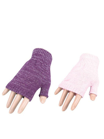 Purple and Pink Fingerless Gloves