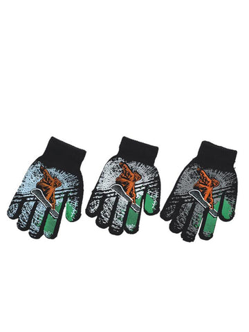 Snow Board Design Gloves - Accent Fashion Accessories