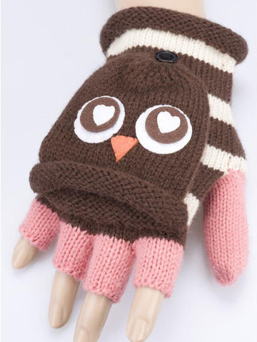 Owl Combination Mitten Gloves