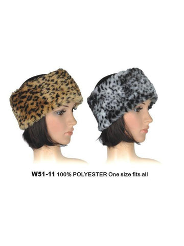 Animal Print Faux Fur Headband1