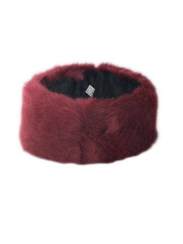 Wine Soft Faux Fur Headband
