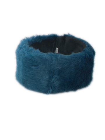 Teal Soft Faux Fur Headband
