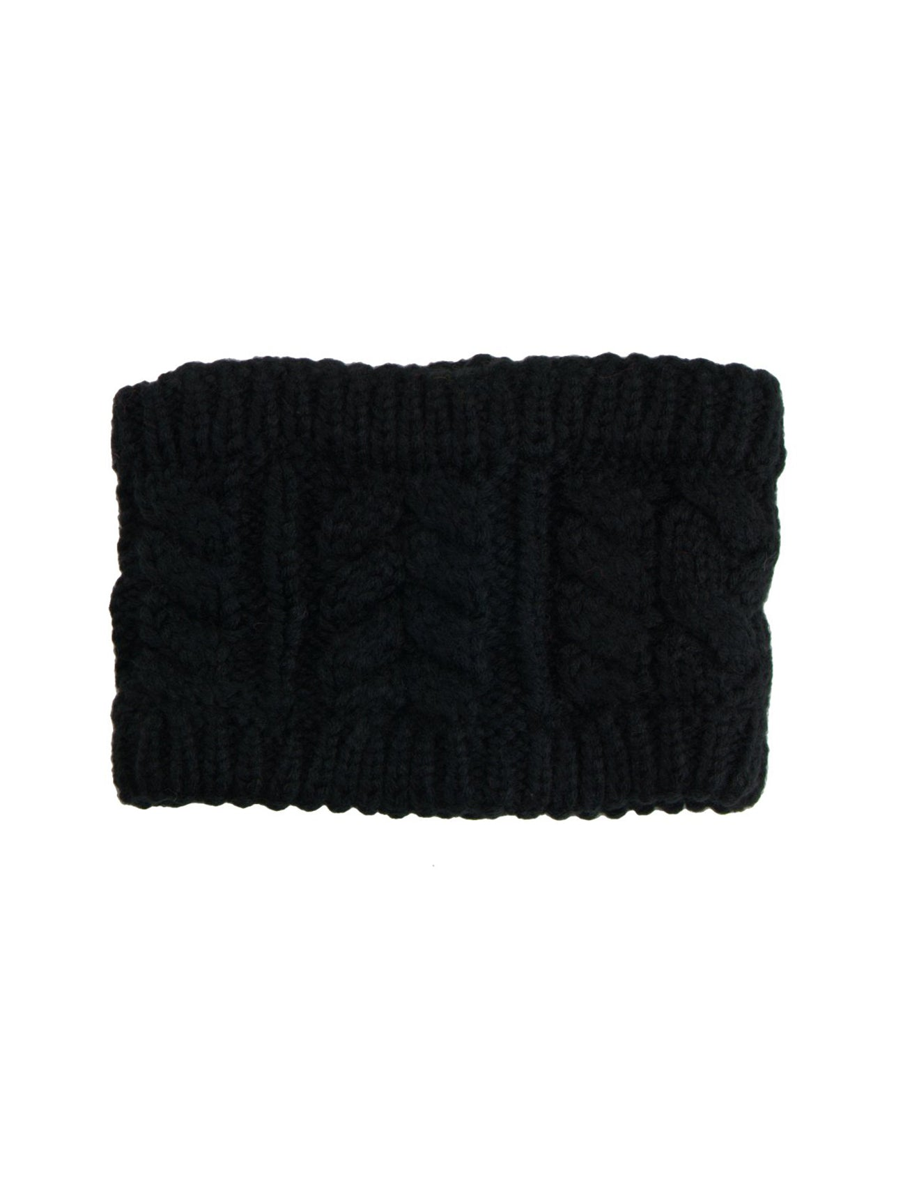 Black Cable Knitted Headband