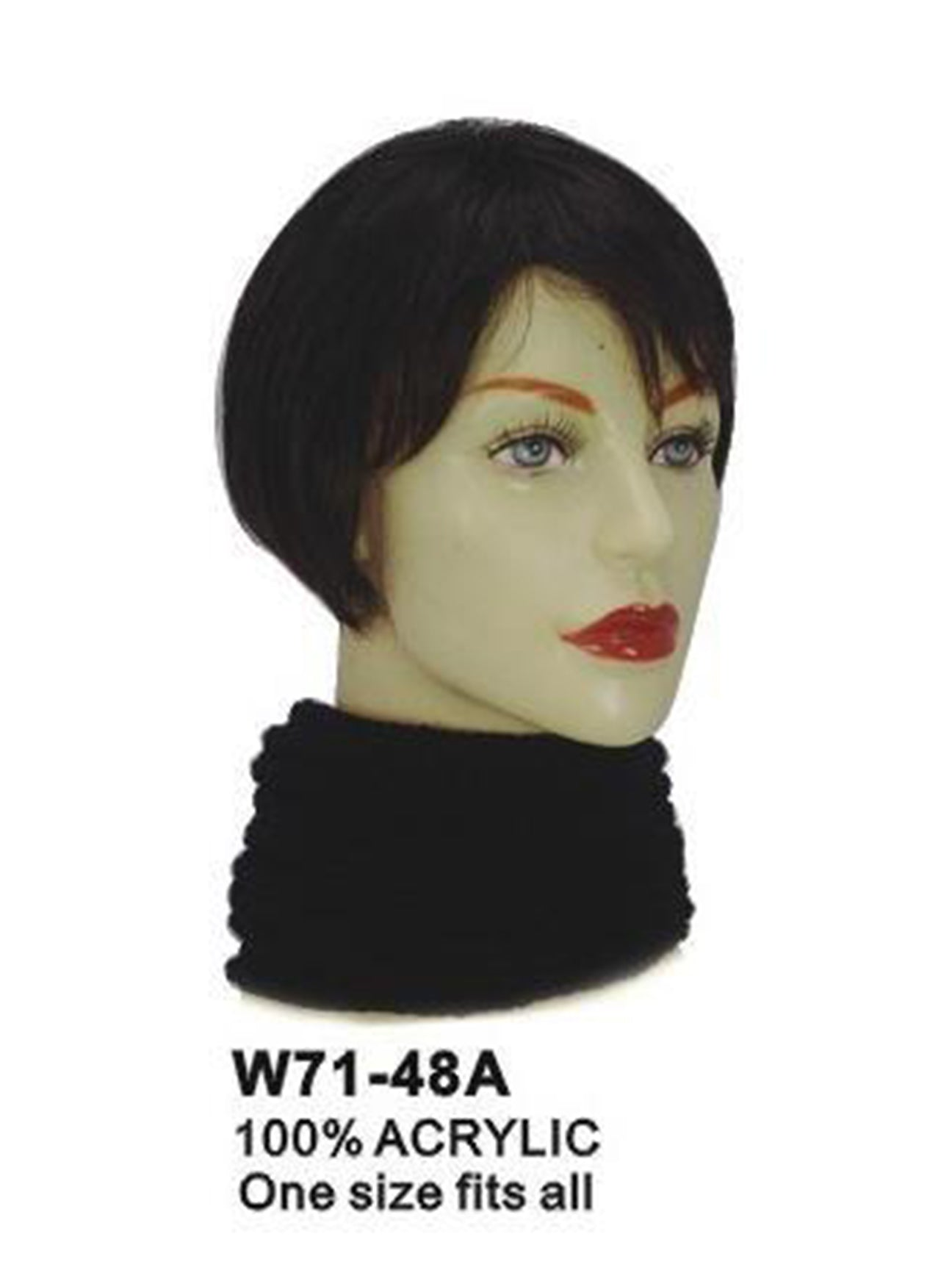 Black Knitted Multifunctional Scarf