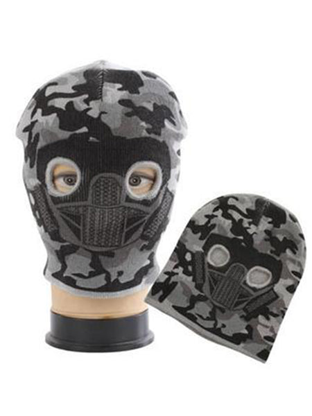Camo Face Mask Hat