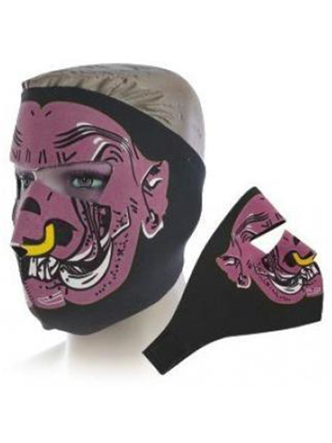 Purple Evil Hog Face Mask