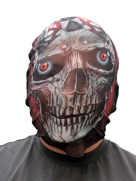 Coloured X-Ray Effect Print Mesh Overhead Full Face Mask