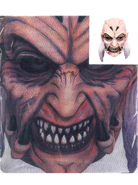 Horror Face Print Mesh Overhead Full Face Mask