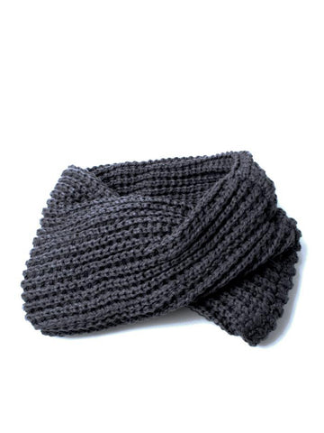 Chunkey Knitted Grey Snood Scarf