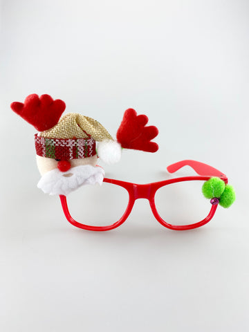 Novelty Christmas Glasses With Santa Clause and Antlers
