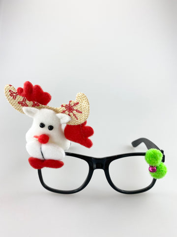 Novelty Christmas Glasses With Reindeer and Arms