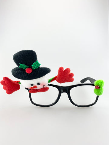 Novelty Christmas Glasses With Snowman