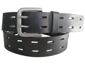 Gewgaw Real Leather Notch Pattern Belt