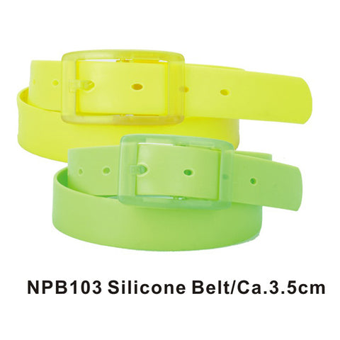 Neon Green and Yellow Assorted Silicone Belts