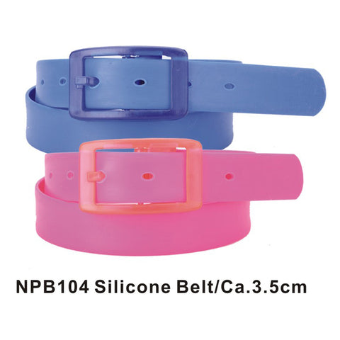 Pink and Blue Assorted Silicone Belts