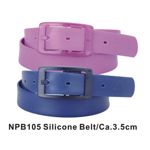 Purple and Blue Assorted Silicone Belts