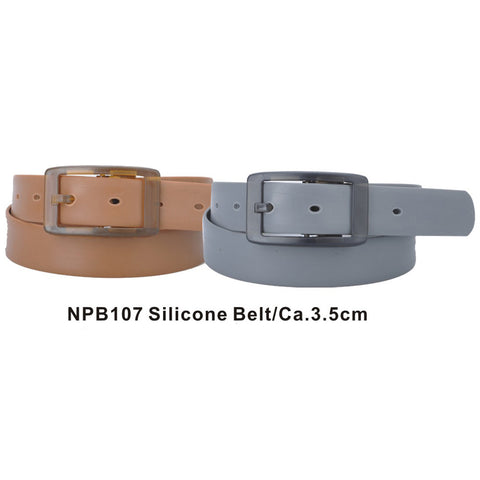 Brown and Grey Assorted Silicone Belts