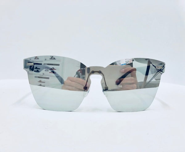 UNISEX MODERN WAYFARER SUNGLASSES WITH MIRRORLENSE