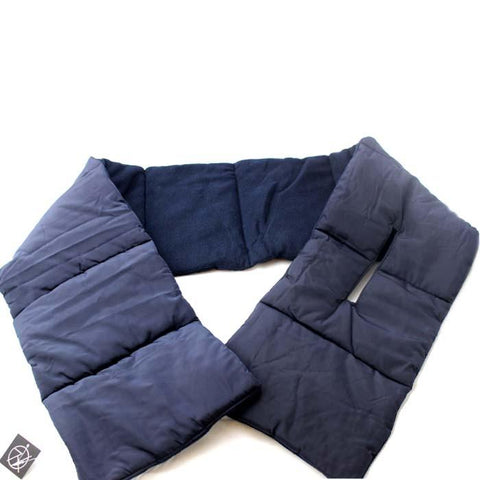 Limited Edition Navy Padded Fleece Scarf - Accent Fashion Accessories