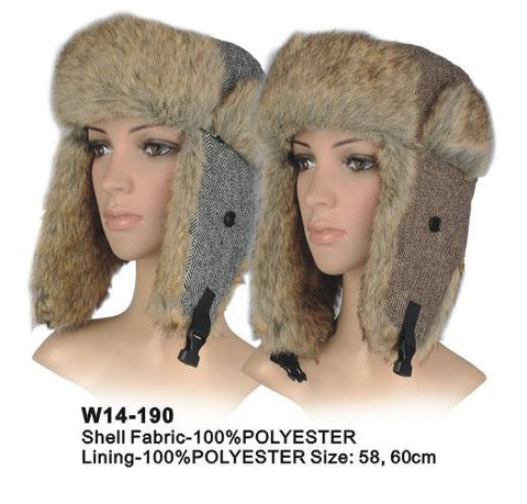 Brown/Grey Trapper Hat - Accent Fashion Accessories