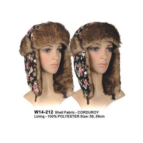 Floral Print Trapper Hat - Accent Fashion Accessories