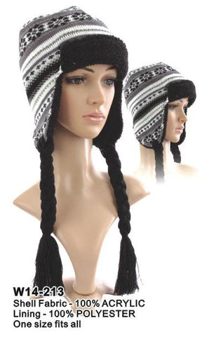 Knitted Trapper Hat - Accent Fashion Accessories