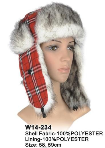 Red Tartan Trapper Hat - Accent Fashion Accessories