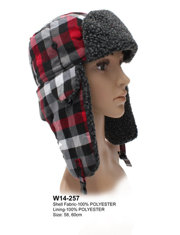 Gingham Style Trapper Hat - Accent Fashion Accessories