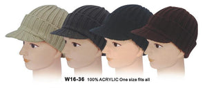 Classic Knitted Visor Beanies - Accent Fashion Accessories