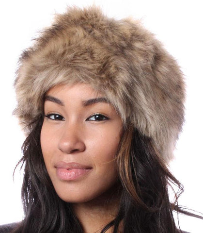 Golden Mink Luxury Faux Fur Headband - Accent Fashion Accessories