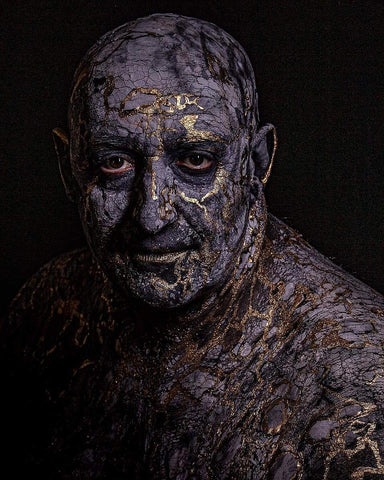 Kintsugi Body Paint and Portrait Photography on Dr Stephan Neff (2020) . You are more beautiful for having been broken.