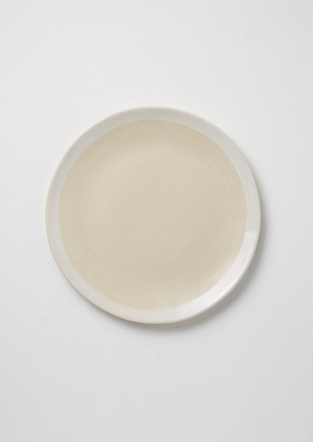Wonki Ware White Wash Dinner Plate | Natural/White ?id=16768504987682