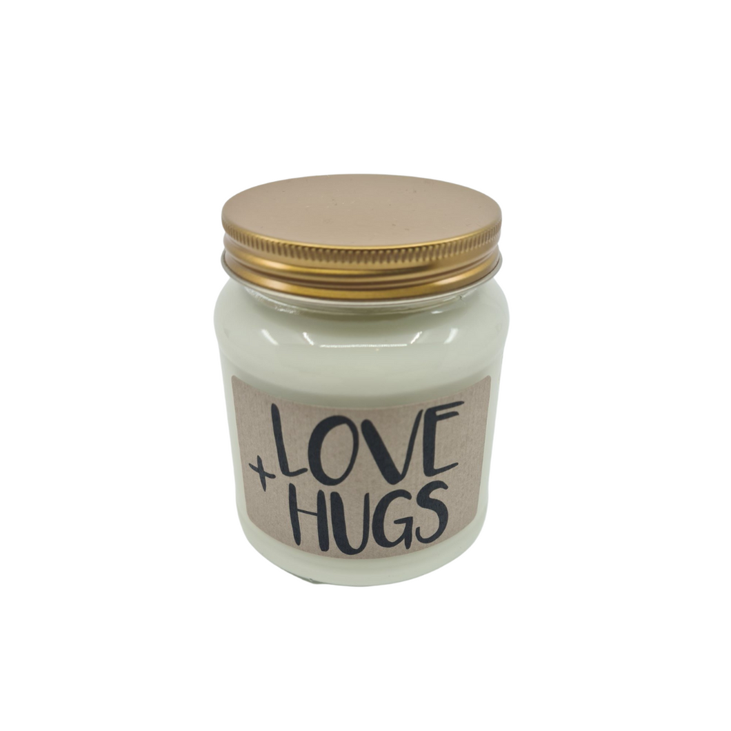 'Love & Hugs' Soy Wax Candle - from Lollyrocket Candle Co
