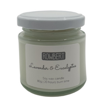 Load image into Gallery viewer, Lavendar & Eucalyptus Soy Wax Candle