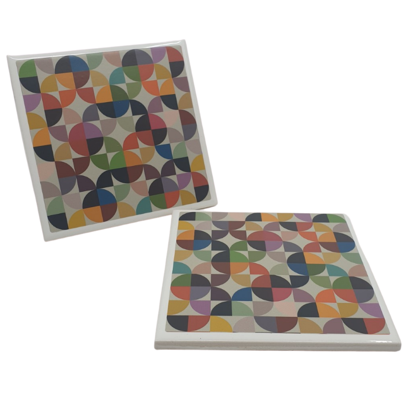 Rainbow Pop Ceramic Coasters - from Yellow Room Designs