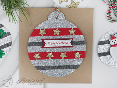 MAKE YOUR OWN CHRISTMAS DECORATION BAUBLE CARD