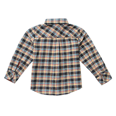 Craftsman Flannel Roll-up Sleeve Shirt for Boys