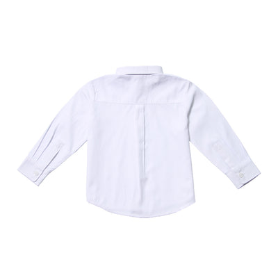White Pindot Shirt for Boys