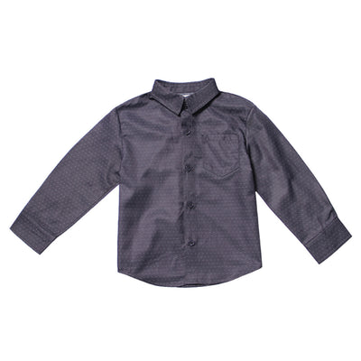 Charcoal Pindot Shirt for Boys