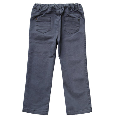 Navy Brushed Stretched Twill Pant for Boys