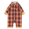 Oxford Plaid Gingham Romper for Baby Boys