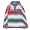 Multi Stripe Polo with Chambray Contrast for Boys